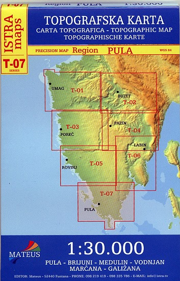 Kroatien Karte Istrien.Istrien 1 30 000 Topografische Karte Kroatien Adriaforum Com