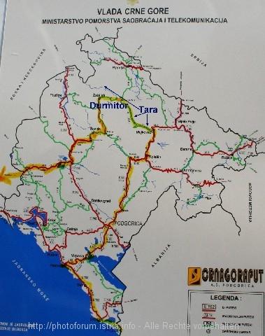 Karte Montenegro Kroatien.Montenegro Rafting Auf Der Tara Kroatien Adriaforum Com