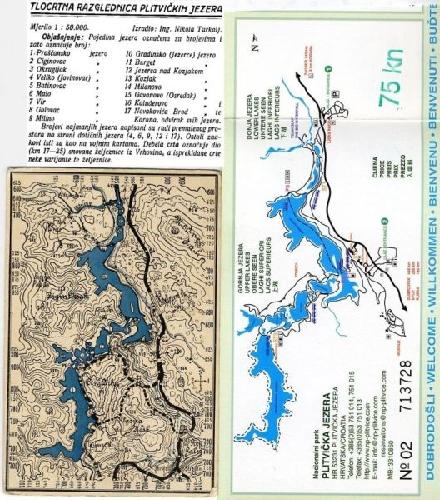 Nationalpark Plitvicer Seen Karte.Nationalpark Plitvicer Seen Ansichtskarte Mit Lageplan
