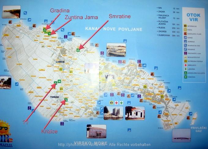 dalmatien kroatien karte